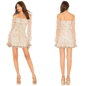 New Tularosa Kassandra Dress Floral Beaded Revolve